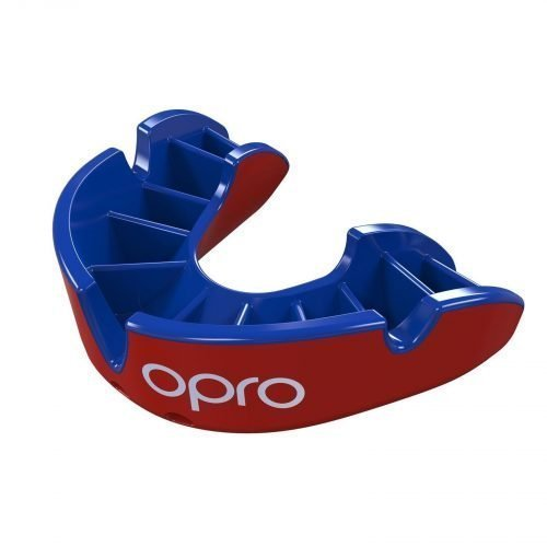 OPRO Mouth Guard Gen4 Silver Level Red Blue