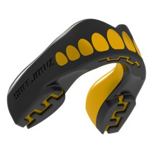 SAFEJAWZ Mouthguard Extro Series Self-Fit Goldie Gum Shield Black Gold