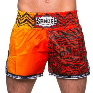 Sandee Warrior Thai Boxing Shorts Red Orange