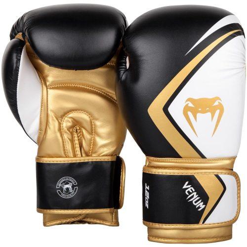 Venum Boxing Gloves Contender 2.0 Black White Gold