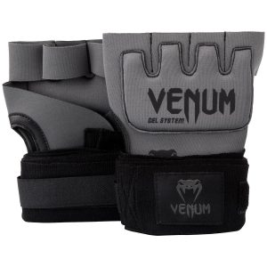 Venum Kontact Gel Hand Wraps in Grey Black