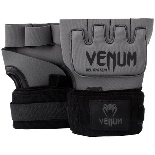 Venum Kontact Gel Hand Wraps in Grey Black