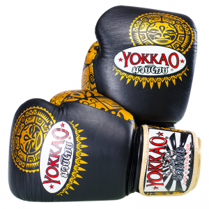 Yokkao Maui Boxing Gloves Black Gold