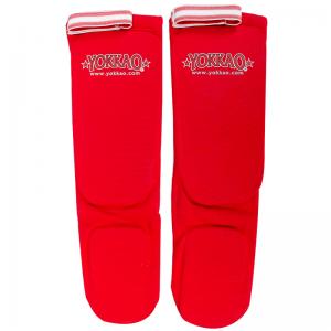 Yokkao Shinguards Cotton Red - yokkao shin guards