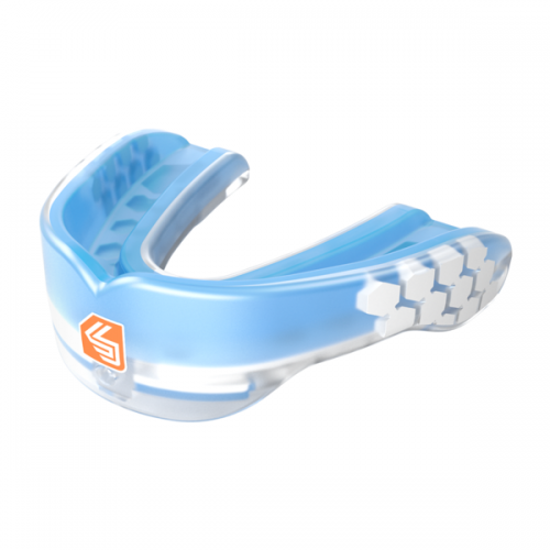 Shock Doctor Gel Max Power Mouth Guard Trans Blue - Shock Doctor Mouth Guard
