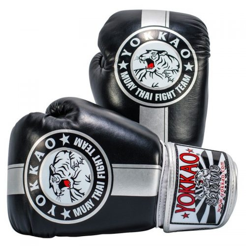 Yokkao Official Fight Team Boxing Gloves Black Silver