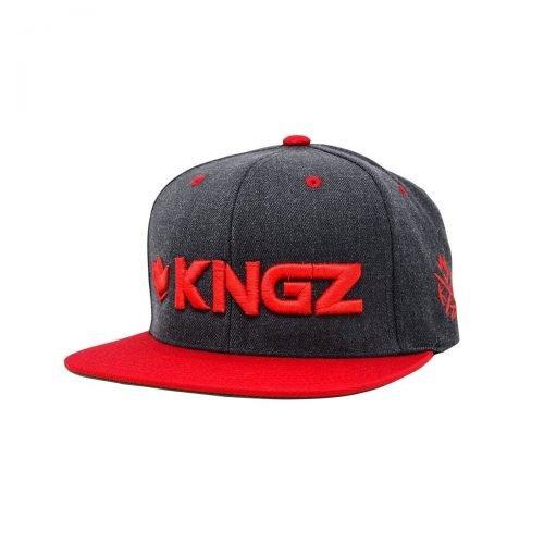 Kingz Logo Snapback Black Red