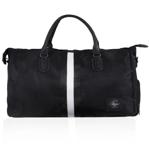 Tatami Black Stripe Duffel Bag