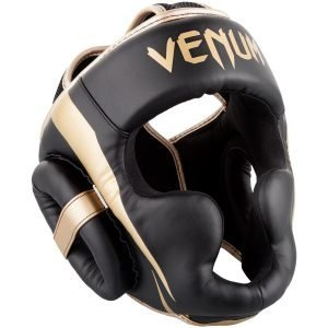 Venum Elite Head Guard Black Gold