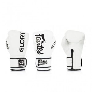 BGVG1 Fairtex X Glory White Velcro Boxing Gloves