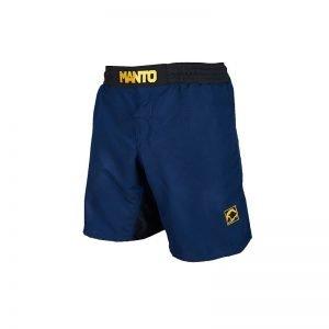 Manto Emblem Fight Shorts Navy Blue