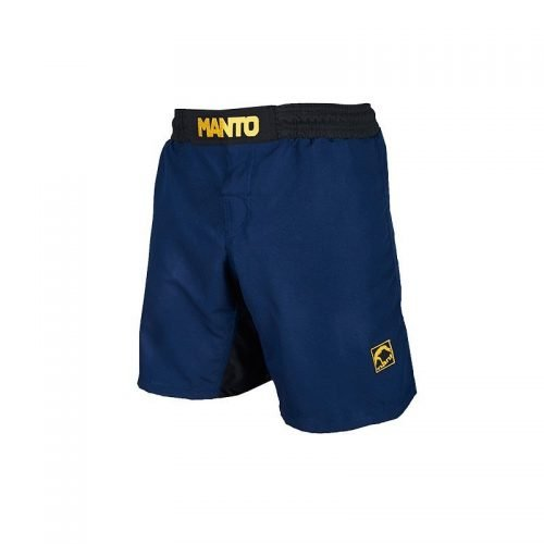 Manto Emblem Fight Shorts Navy Blue