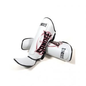 Sandee Cool-Tec Shin Guards White Black Red