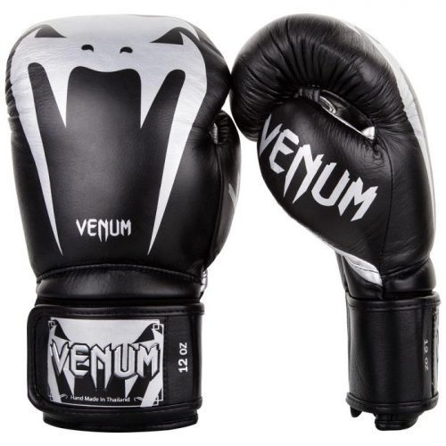 Venum Giant 3.0 Boxing Gloves Nappa Leather Black/Silver