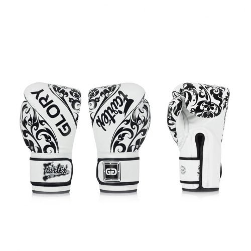 BGVG2 Fairtex X Glory White Limited Edition Gloves