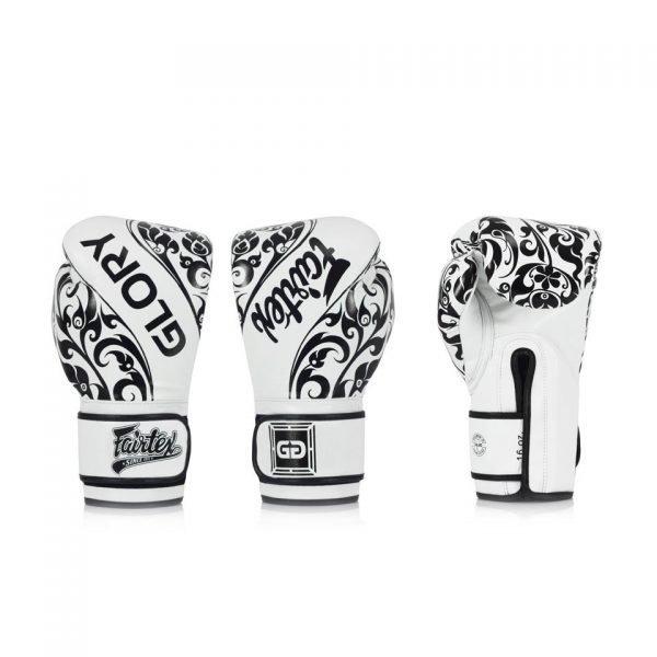 BGVG2 Fairtex X Glory White Limited Edition Gloves