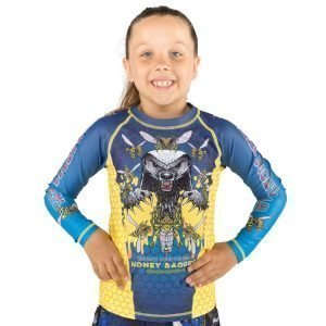 Tatami Kids Honey Badger V5 Rash Guard Blue