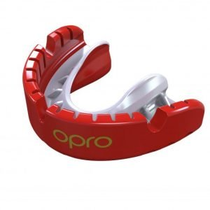 OPRO Gen 4 Mouth Guard Gold Level Braces Red Pearl