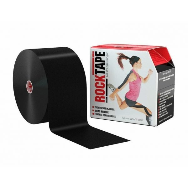 RockTape Kinesiology Tape 10cm x 32m Black