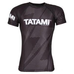 Tatami IBJJF Rash Guard Rank Black Short Sleeve