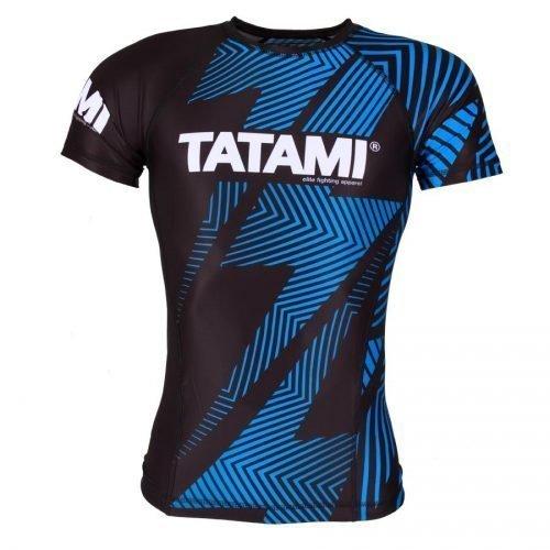 Tatami IBJJF Rash Guard Rank Blue Short Sleeve