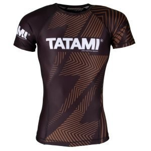 Tatami IBJJF Rash Guard Rank Brown Short Sleeve