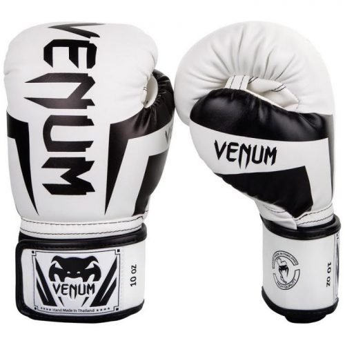 Venum Elite Boxing Gloves White Black