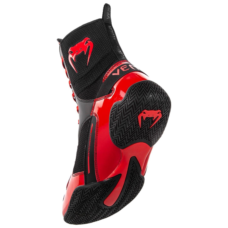Venum Elite Boxing Shoes Boots Black Red Minotaur Fight