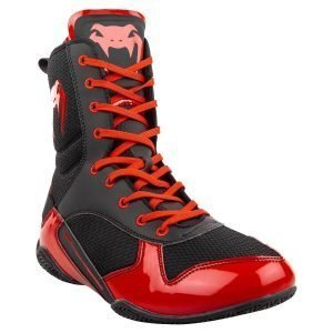 Venum Elite Boxing Shoes Boots Black red