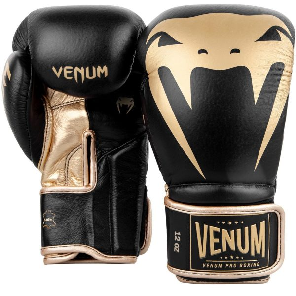 Venum Giant 2.0 Pro Boxing Gloves Black Gold Velcro