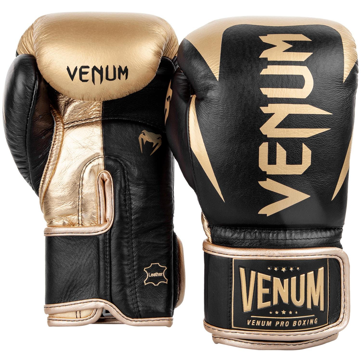 Venum Hammer Pro Boxing Gloves Black Gold Velcro ...