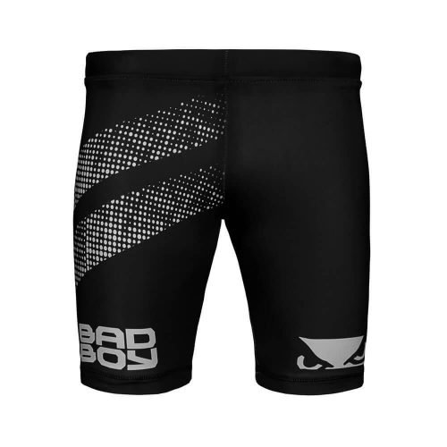 Bad Boy Impact Long Vale Tudo Compression Shorts Black Silver