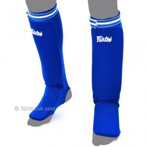 Blue Elastic Competition Shin Pads SPE