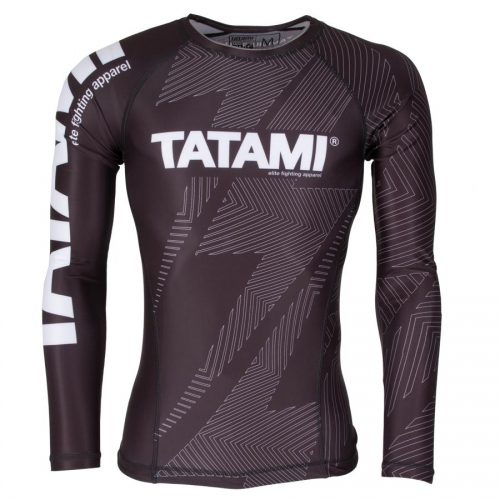 Tatami IBJJF Rash Guard Rank Black Long Sleeve