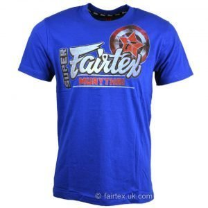 Super Muay Thai T-Shirt Blue TST106