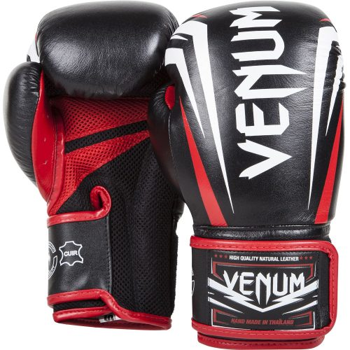 Venum Sharp Boxing Gloves Black Ice Red Nappa Leather