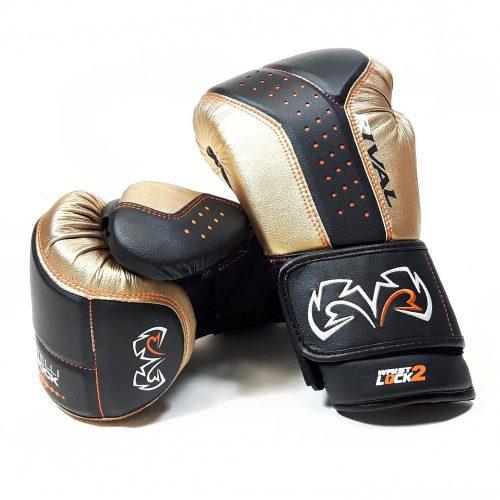 Rival Boxing RB10 Intelli Shock Bag Gloves Black Gold
