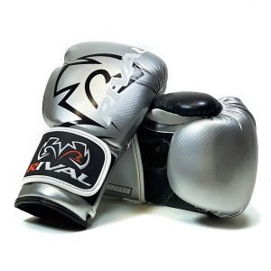 Rival RB7 Fitness Bag Training Boxing Gloves Silver Black