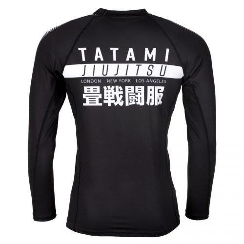 Tatami Worldwide Jiu Jitsu Long Sleeve Rash Guard Black