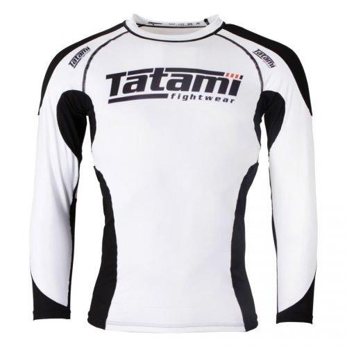 Tatami Technical Rash Guard White Long Sleeve