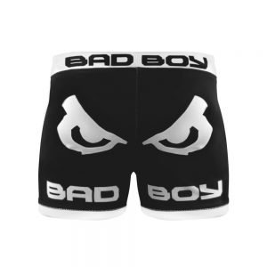 Bad Boy Classic Vale Tudo Compression Shorts Black White - bad boy mma shorts