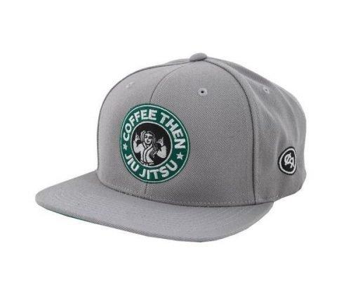 Choke Republic Coffee Then Jiu Jitsu Snapback Grey