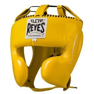 Cleto Reyes Yellow Head Guard with Cheek Protection - boxing headgear - Cleto reyes headguard
