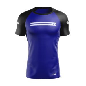 Kingz Sport Ranked Rash Guard Short Sleeve Blue