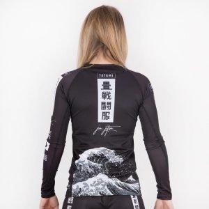 Tatami Ladies Kanagawa Rash Guard Black