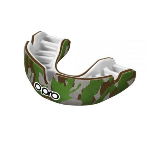 OPRO Mouth Guard Power Fit Camo Brown Green Silver