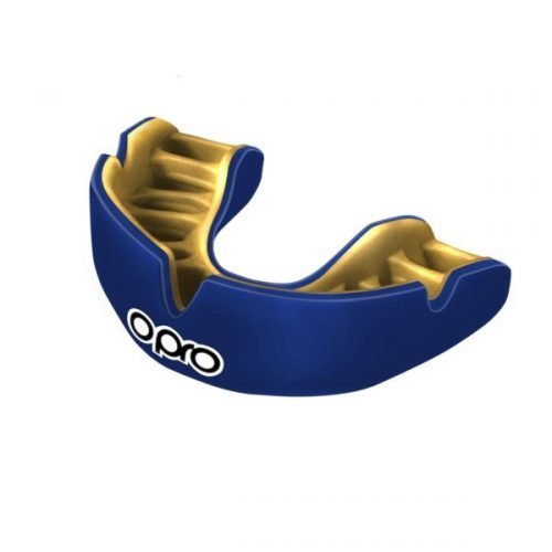 OPRO Mouth Guard Power Fit Single Colour Dark Blue Gold