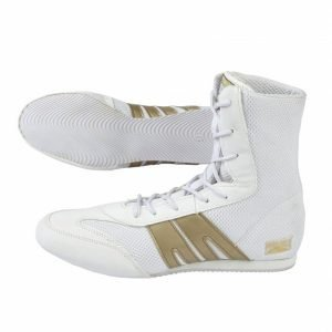Pro Box Boxing Boots Shoes Senior White Gold