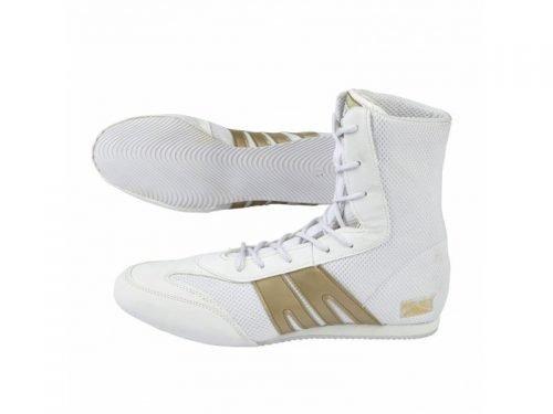Pro Box Boxing Boots Shoes Senior White Gold