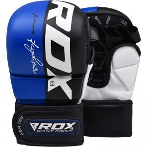 RDX T6 MMA Grappling Gloves Blue